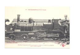 LOCOMOTIVES DE L'OUEST   MACHINE COMPOUND  SERIE  502  A DEUX ESSIEUX COMPLES ET 4 CYLINDRES  POUR TRAINS EXPRESS N°2 - Trains