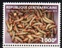 CENTRAL AFRICAN REPUBLIC, CAR, 2019, MNH, FAUNA, CATERPILLARS, 1v - Insectes