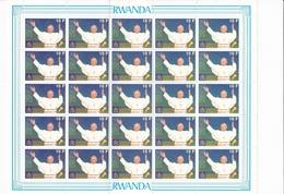 Rwanda Nº 1307 Al 1308 En Pliegos De 25 Series - Rwanda