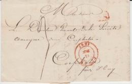 BELGIUM USED COVER 11 SEPTEMBRE 1847 HUY CORPHALIE - 1830-1849 (Belgique Indépendante)
