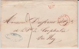 BELGIUM USED COVER 5 DECEMBRE 1847 LIEGE HUY CORPHALIE - 1830-1849 (Belgique Indépendante)