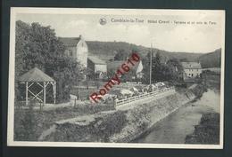 Comblain-la-Tour - Hôtel Cawet - Terrasse Et Un Coin Du Parc - Comblain-au-Pont