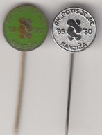2 Pins Pin Badge Wrestling Club Potisje Kanjiza  Serbia Yugoslavia - Lotta