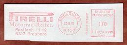 Ausschnitt, Francotyp-Postalia F91-4789, Pirelli Motorrad-Reifen, 170 Pfg, Breuberg 1992 (72414) - BRD