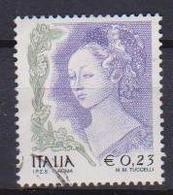 ITALIA  REPUBBLICA 2002 LA DONNA NELL'ARTE SASS. 2588 USATO VF - 2001-10: Usati
