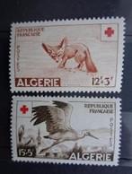 ALGERIE 1957 - Y&T N° 343 & 344 ** - AU PROFIT DE LA CROIX ROUGE - Algerije (1924-1962)