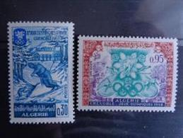 ALGERIE 1967 N° 453 & 454 ** - JEUX OLYMPIQUES D'HIVER A GRENOBLE - Algérie (1962-...)