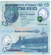IRELAND  Northern  Newly Issued 5 Pounds    Bank Of Ireland   Polimer   2019  UNC - [ 2] Ireland-Northern