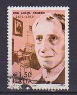 ITALIA  REPUBBLICA 2009 DON LUIGI STURZO SASS. 3122 USATO VF - 2001-10: Usati