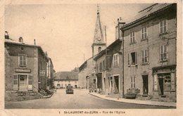 (Jura)  CPA  Saint Laurent Du Jura  Rue De L'eglise  ( Bon Etat) - Autres Communes