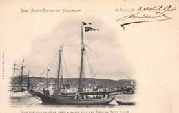 CPA ILES SAINT PIERRE ET MIQUELON - Une Goëlette De Pêche Prête à Partir Pour Les Bancs De Terre Neuve - Saint-Pierre-et-Miquelon