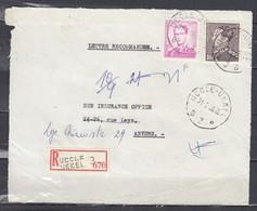 Aangetekend Briefstuk Van Uccle-Ukkel B3B Naar Anvers - 1936-51 Poortman