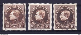 België 1929 Nr 289 G , 3 Stuks,  Zeer Mooi Lot Krt 3497, KOOPJE ,   Zie Ook Andere Mooie Loten - Timbres