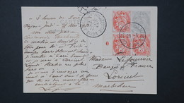 Carte De L' Exposition Philatélique De Dijon Mai 1911 Affranchissement Type Blanc Bord Millesime - Marcofilia (sobres)