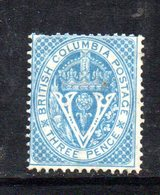 APR354 - COLOMBIA BRITANNICA 1865 , Yvert N. 6  Gomma Parziale  (2380A)  Fil CC - Nuovi