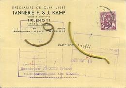 Tienen : Tannerie F. & J. Kamp : Spécialité De Cuir   1940  (  2 Scans ) - Tienen