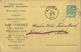Roeselare - Rousselare : Henri Carbonez : Groote Rookerij Haring-sprot En Hespen 1910   (  2 Scans ) - Roeselare