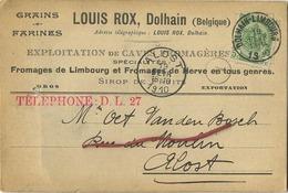 Dolhain : Louis Rox : Grains - Farines   1910     (  2 Scans ) - Zonder Classificatie