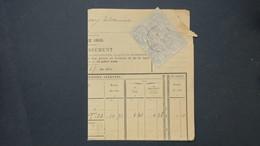 Affranchissement Bloc De 4 Type Blanc N° 107 Sur Avertissement D ' Impots St Jean De Losne Cote D' Or Fevrier 1910 - Storia Postale