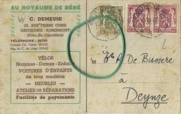 Grivegnée - Robermont :  C. Demeuse : Vélos - Voiture  ............................     (  2 Scans ) - Zonder Classificatie