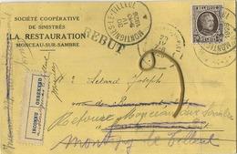 Monceau-sur-sambre : La Restauration   1926      (  2 Scans ) - België