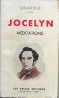 Livre ,Jocelyn  Méditations  Lamartine - Poésie
