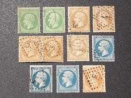 Lot Napoléon III  Avec Oblitération D'Epoque, Cote: 91 €  TB - 1862 Napoleon III