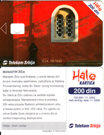 SERBIA - Zica Monastery, Telecom Srbija Telecard 200 Din, Orange CN : 1234 567890, 11/03, Printing Test Card - Jugoslawien