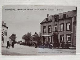 Rare. Arlon. Rue De Mersch. Café De La Promenade. Animée, Attelages. Souvenir Exposition D'Arlon - Aarlen