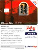 SERBIA - Zica Monastery, Telecom Srbija Telecard 200 Din, White CN : 1234 567890, 11/03, Printing Test Card - Joegoslavië