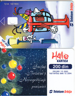 SERBIA - Christmas 2002, Telecom Srbija Telecard 200 Din, CN : 1234 567890, 12/02, Printing Test Card - Joegoslavië