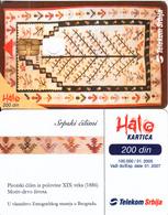 SERBIA - Srpski Cilimi, Telecom Srbija Telecard 200 Din, Error(second Hole For Chip), 01/05, SAMPLE(NO Cn) - Jugoslawien