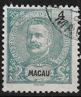 Macao Macau – 1898 King Carlos 4 Avos - Usati