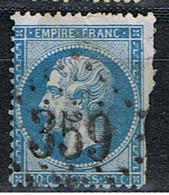 (FR 20) FRANCE // YVERT 29 A // 1862 // LOSANGE GROS CHIFFRES :359 - 1862 Napoleon III