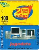 MONTENEGRO - Photo Riva 20 Years, Jugodata, CN : 12334 567890, 08/02, Printing Test Card, Sed - Montenegro