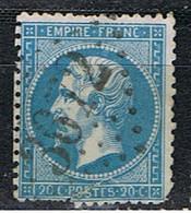 (FR 21) FRANCE // YVERT 22 // 1862 // LOSANGE GROS CHIFFRES :3672 - 1862 Napoleon III