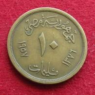 Egypt 10 Milliemes 1957  Egipto Egypte Egito Egitto Ägypten #2 Wºº - Egitto