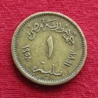 Egypt 1 Millieme 1958  Egipto Egypte Egito Egitto Ägypten  Wºº - Egypt