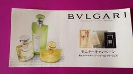 BULGARI  (JAPON) - Perfume Cards