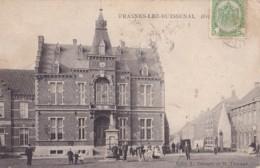 Frasnes-lez-Buissenal Hôtel De Ville Circulée En 1910 - Frasnes-lez-Anvaing