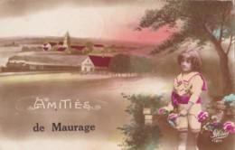 Amitiés De Maurage Circulée En 1921 - La Louvière