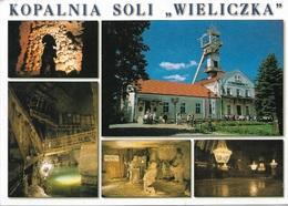 """Pologne - KOPALNIA SOLI """"WIELICZKA"""" 2 Timbres Philatéliques Au Verso - Voir Scan - Cpm - écrite - - Pologne"""