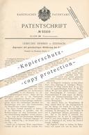 Original Patent - Gebrüder Demmer , Eisenach , 1896 , Zugregler Mit Abführung Von Kohlenoxydgas | Feuerung , Ofen , Öfen - Historical Documents