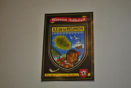 Blason Adhésif Ile De La Réunion   Ile De L'Océan Indien - La Réunion