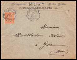 9146 Entete Musy N°117 Convoyeur Divonne Bellegarde 1901 Pour Gex Ain Mouchon France Lettre Cover - Marcophilie (Lettres)