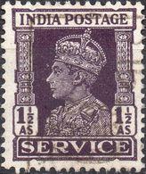 INDIA 1942 - GIORGIO VI, SERVIZI - SERIE COMPLETA USATA - 1947-49 Dominion