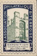 Association Philatélique Biterroise Exposition Locale Propagande Phil Béziers Juin 1937 YT 190 CAD Béziers 17 6 37 - 1921-1960: Modern Period
