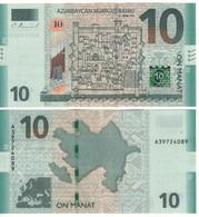 AZERBAIJAN  New 10 Manat  New Bank Name  New Date 2018     Pnew  UNC - Azerbeidzjan
