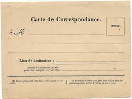 Guerre De 1870 - Carte De Correspondance Vierge Imprimée à NANCY (Meurthe) - Marcophilie (Lettres)