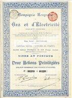 Compagnie Hongroise De GAZ Et D'ÉLECTRICITÉ - Electricité & Gaz